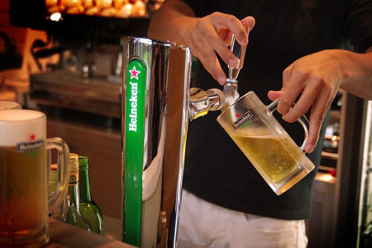 Heinekenの生ビール